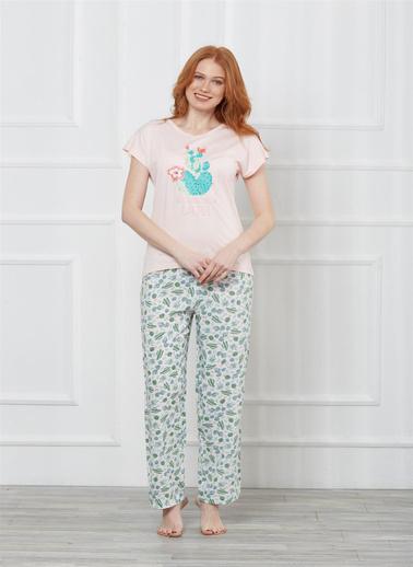 Obje Pijama Takım Renkli